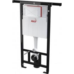 ALCAPLAST Jádromodul - predstenový inštalačný systém s bielym / chróm tlačidlom M1720-1 + WC CERSANIT CLEANON MODUO + SEDADLO (AM102/1120 M1720-1 MO1)