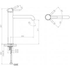 STEINBERG - Umývadlová páková batéria predĺžená bez výpustí, chróm (100 1720)