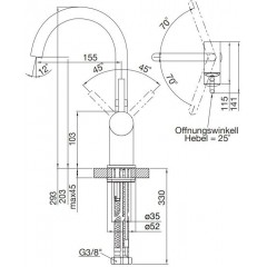 STEINBERG - Umývadlová páková batéria bez výpustí, chróm (100 1510)