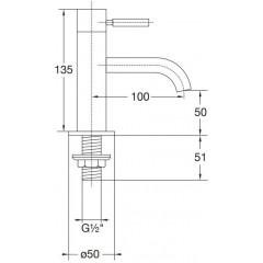 STEINBERG - Stojankový ventil pre studenú vodu, chróm (100 2500)