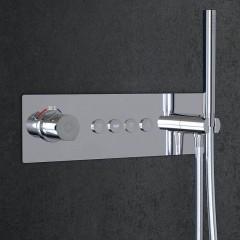 STEINBERG - Podomietková termostatická súprava so systémom PUSHTRONIC, 4 výstupy 390 4242