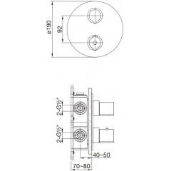STEINBERG - Podomietková termostatická batéria 2-cestná, bez telesa, čierna mat (100 4133 1 S)