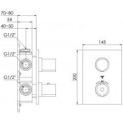STEINBERG - Podomietková termostatická batéria 3-cestná / bez telesa /, chróm (120 4123 1)