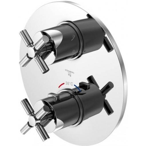 STEINBERG - Podomietková termostatická batéria / bez telesa /, 3 výstupy, chróm 250 4123