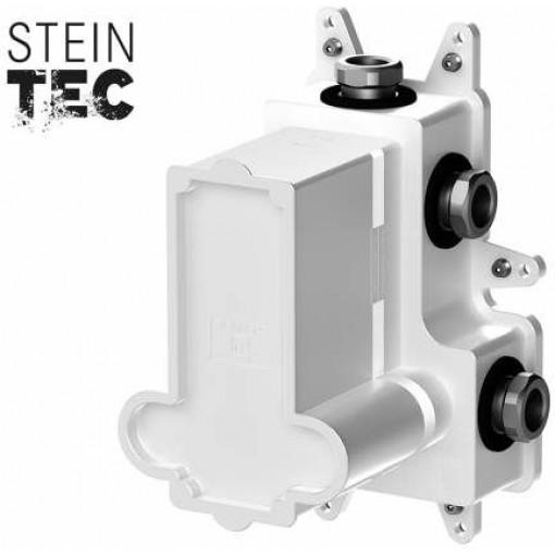 STEINBERG - Podomietkové montážne teleso pre termostatické batérie, 3-cestné, kartáčovaný nikel 010 4130 BN