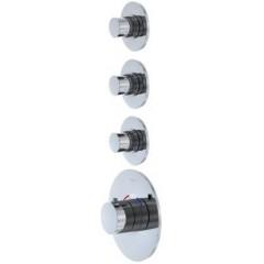 STEINBERG - Podomietková termostatická batéria, 3 ventily, chróm 100 4330