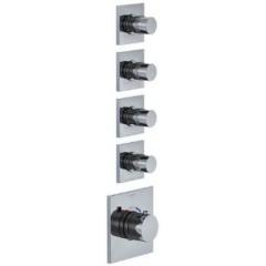 STEINBERG - Podomietková termostatická batéria, 4 ventily, chróm 120 4340