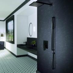 STEINBERG - Podomietková páková batéria pre vaňu/ sprchu s prepínačom, čierna mat 160 2103 S