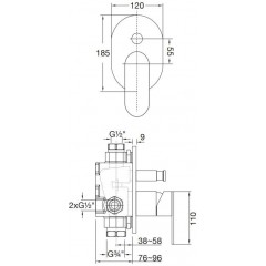 STEINBERG - Podomietková páková batéria, chróm (170 2103)