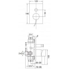 STEINBERG - Podomietková páková batéria, chróm 180 2103