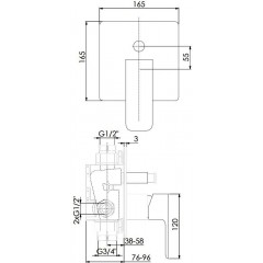 STEINBERG - Podomietková páková batéria, chróm 200 2103