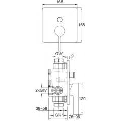 STEINBERG - Podomietková páková batéria, chróm 230 2103