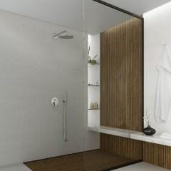 STEINBERG - Podomítková páková baterie pro vanu/sprchu s přepínačem, kartáčovaný nikl 260 2103 BN
