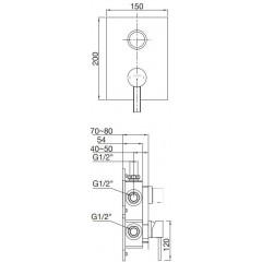 STEINBERG - Podomietková páková batéria 3-cestná / bez telesa /, chróm 230 2202 1