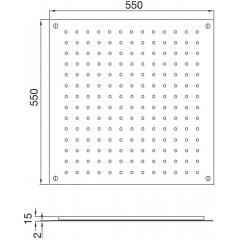 STEINBERG - Relaxačná horná sprcha, leštená nerezová oceľ 390 6512