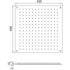 STEINBERG - Relaxačná horná sprcha, kartáčovaná nerezová ocel 390 6413