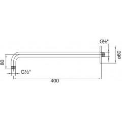 STEINBERG - Nástenné sprchové rameno 400mm 100 7900