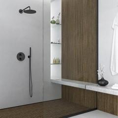 STEINBERG - Nástenné sprchové rameno 450mm, čierna mat 100 7910 S