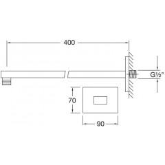 STEINBERG - Nástenné sprchové rameno 400mm, chróm 120 7910