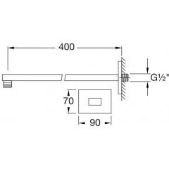 STEINBERG - Nástenné sprchové rameno 400mm, chróm 120 7900