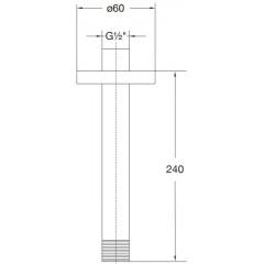 STEINBERG - Sprchové rameno 240mm, chróm (100 1581)