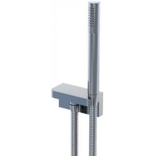 STEINBERG - Sprchová súprava, chróm (držiak ručnej sprchy s prívodom vody, ručná sprcha, kovová hadica) (230 1670)