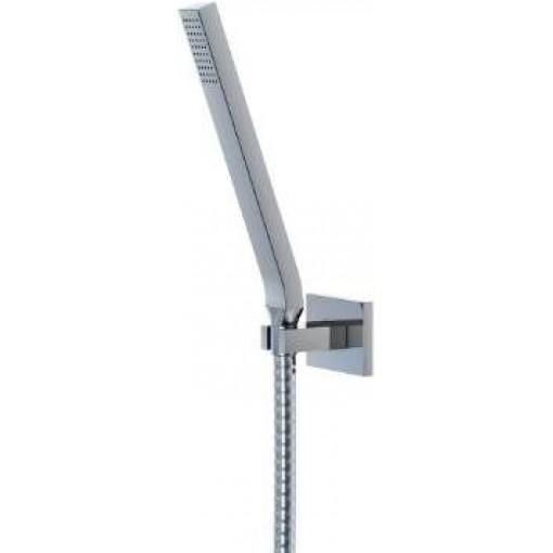 STEINBERG - Sprchová súprava, chróm (nástenný držiak, ručná sprcha, kovová hadica) (135 1650)