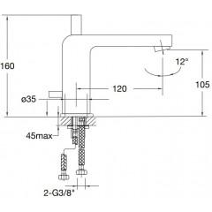 STEINBERG - Umývadlová páková batéria bez výpuste, chróm (120 1025)