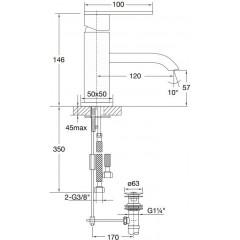 STEINBERG - Umývadlová páková batéria (135 1001)