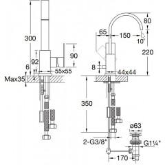 STEINBERG - Umývadlová batéria s odtokovou súpravou (135 1501)