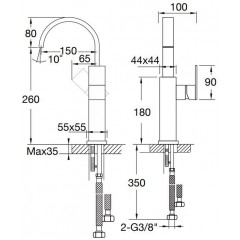 STEINBERG - Umývadlová páková batéria bez výpuste, chróm (135 1551)