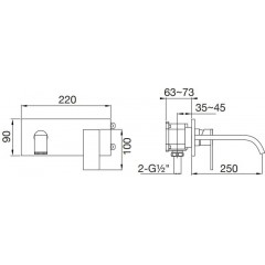STEINBERG - Nástenná umývadlová batéria bez montážneho telesa, chróm 135 1824