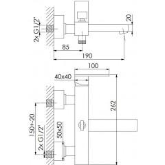 STEINBERG - Nástenná vaňová batéria 160 1110