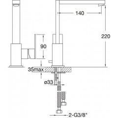 STEINBERG - Umývadlová páková batéria bez výpuste, chróm (160 1511)