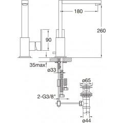 STEINBERG - Umývadlová páková batéria s výpusťou, chróm (160 1500)