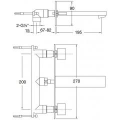 STEINBERG - Podomietková umývadlová batéria 3-otvorová (160 1955)