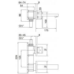 STEINBERG - Podomietková umývadlová batéria 2-otvorová bez montážneho telesa, chróm (160 1804)