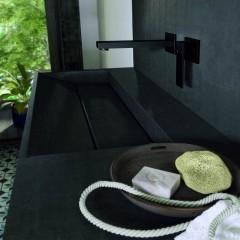 STEINBERG - Podomietková páková umývadlová batéria, s ramienkom 200mm, čierna mat 160 1814 S