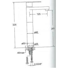 STEINBERG - Umývadlová páková batéria predĺžená, bez výpuste, chróm (náhrada za 170 1700) (170 1700 1)