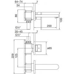 STEINBERG - Podomietková umývadlová batéria 2-otvorová bez montážneho telesa, chróm (170 1814)