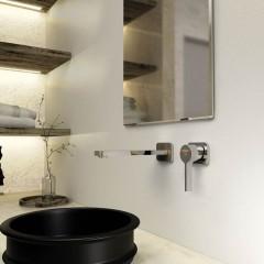 STEINBERG - Podomietková umývadlová batéria 2-otvorová s mosadzným telesom, chróm (230 1815)