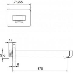 STEINBERG - Umývadlová/vaňová hubica 170 mm (230 2300)
