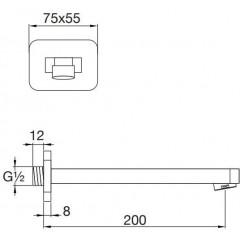 STEINBERG - Umývadlová/vaňová hubica 200 mm (230 2310)