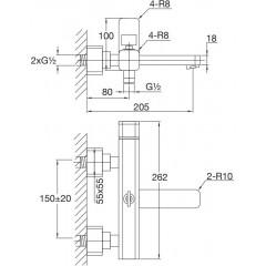 STEINBERG - Nástenná vaňová batéria bez príslušenstva, chróm 235 1100