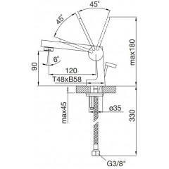 STEINBERG - Páková umývadlová batéria bez výpuste, chróm 240 1010