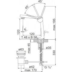 STEINBERG - Umývadlová páková batéria s výpusťou, chróm (240 1020)