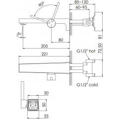 STEINBERG - podomietková umývadlová batéria 1-otvorová (240 1800)