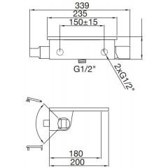STEINBERG - Nástenná vaňová batéria bez príslušenstva, chróm 240 1100
