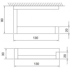 STEINBERG - Držiak toaletného papiera 460 2800