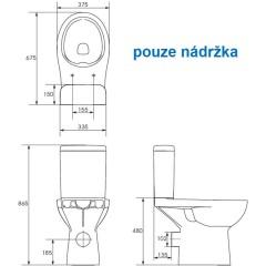 CERSANIT - ND - Etiuda náhradná nádržka - bez vnútorností (K11-0221-02X)